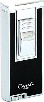 Caseti cigar lighter jetflame chrome / black