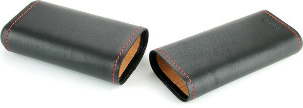 Siglo Housse en cuir noir avec couture rouge