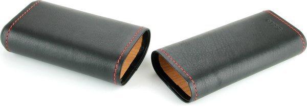 Siglo Lederetui schwarz mit roter Naht
