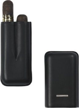 Lecerf Cigarren-Etui Double Robusto schwarz