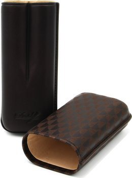Davidoff Zigarren Etui R-2 Leder braun Curing