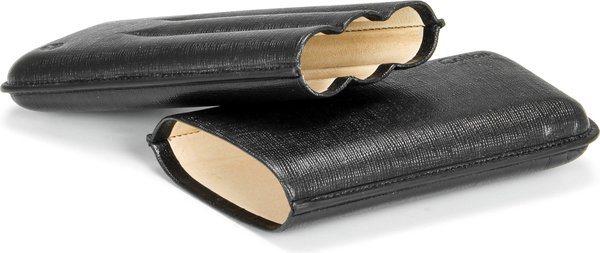 Colibri Coronas Zigarrenetui für 3 Zigarren Leder schwarz