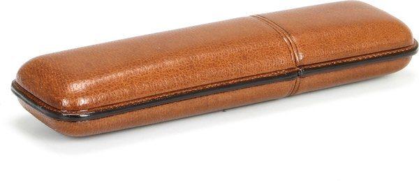 Martin Wess 935 Zigarrenetui für 2 Coronas Ziegenleder Havanna