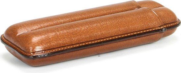 Martin Wess 490 Zigarrenetui für 2 Robustos  Ziegenleder Havanna