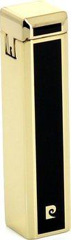 Pierre Cardin Slidecap Feuerzeug schwarz / Gold poliert