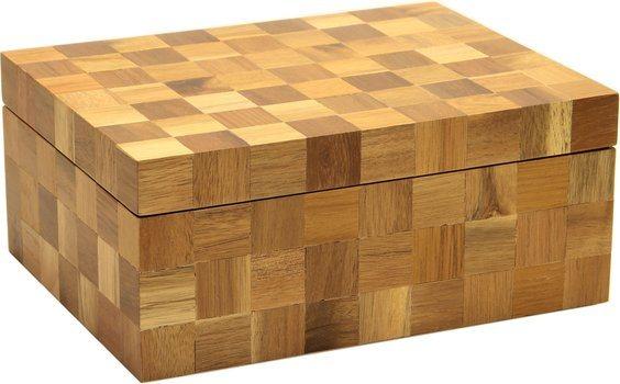 Humidor Holz kariert