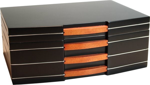 Humidor schwarz Finish matt