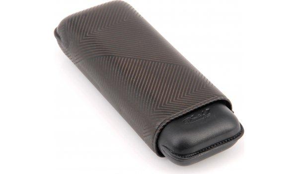 Davidoff Zigarrenetui XL-2 Leder schwarz Blatt