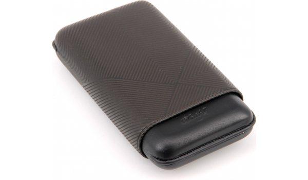 Davidoff Zigarrenetui XL-3 Leder schwarz Blatt