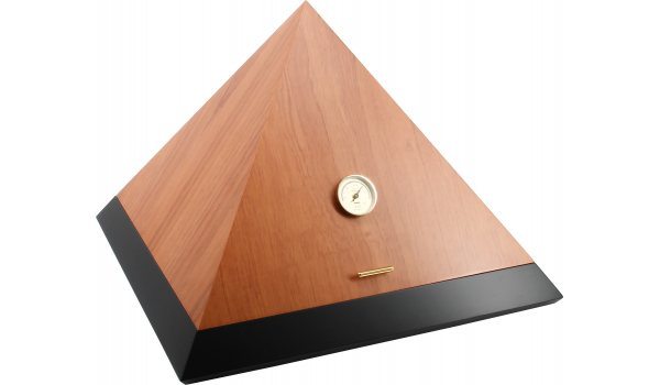 adorini Humidor Pyramid Deluxe L bi-color cedro schwarz