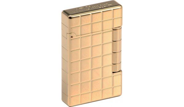 S.T Dupont Briquet Initial Quadrillage Finition Bronze Dore
