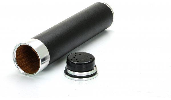 Reisehumidor für 3 Zigarren schwarz/gold