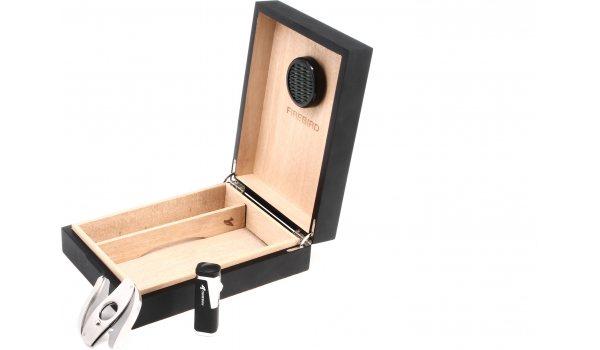 Colibri Firebird cave à cigares-Set - pour 20 cigares - noir/mat