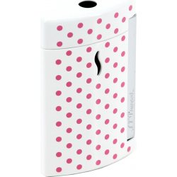 S.T. Dupont Minijet Feuerzeug Weiß Pinke Punkte