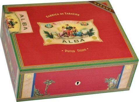 Humidor Elie Bleu Flor De Alba per 75 Sigari Rosso