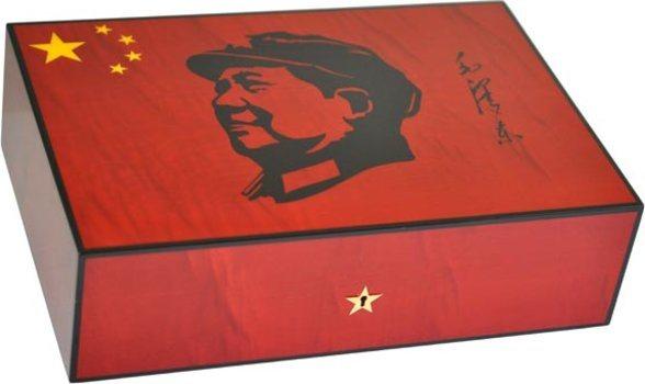 Humidor Elie Bleu Mao Sicomoro Rosso