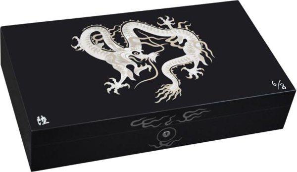 Elie Bleu Mother-of-Pearl Dragon begrenzte Auflage schwarzer Humidor