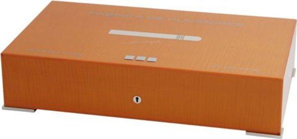 Humidor Elie Bleu Nuova Medaglia per 110 Sigari Arancione