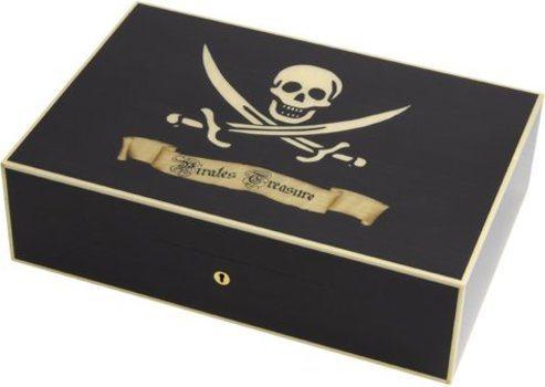 Humidor Elie Bleu Tesoro dei Pirati per 110 Sigari Sicomoro Nero