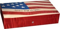 Elie Bleu Stars & Stripes Flagge 110-Zigarren-Humidor
