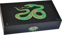 Humidor Elie Bleu Sicomoro Intarsio Serpente Edizione Limitata Nero (numerato 1-888)