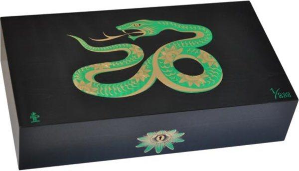 Elie Bleu Snake begrenzte Auflage schwarzer Einlegehumidor aus Ahorn (nummeriert 1-888)