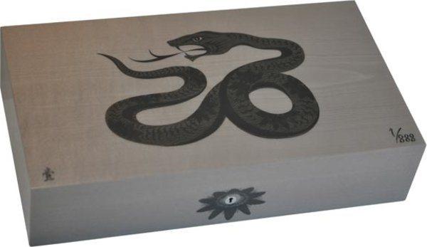 Cave Elie Bleu Sycomore Marqueterie Serpent Edition Limitée Grise