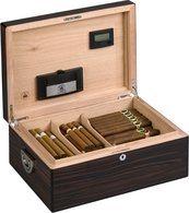 Diamond Crown The Alexander Humidor für 160 Zigarren aus glänzendem Ebenholz