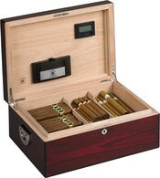 Humidor Diamond Crown The Oxford per 160 sigari Vernice di palissandro