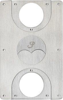 Tagliasigari Passatore a forma di carta di credito in acciaio inossidabile - spazzolato