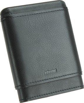 Étui à cigares Adorini en cuir véritable noir 3-5 cigares