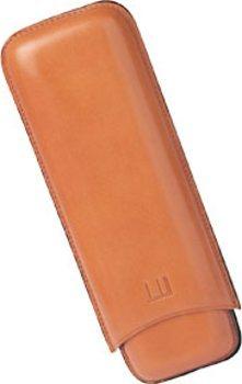 Dunhill terracotta cigar case for two Churchills