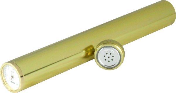 Adorini Humidor Zigarrenröhre inkl. Hygrometer in Gold