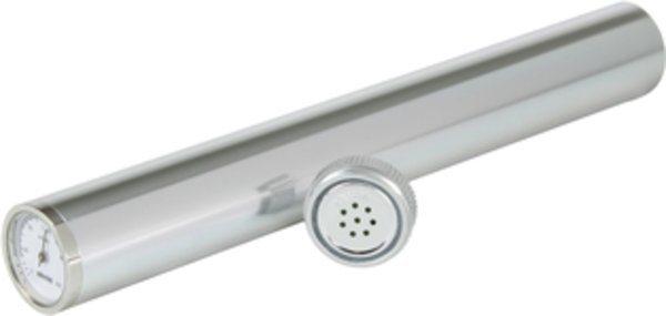 Humidor Adorini tubo argentato, include igrometro