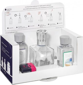Lampe Berger Duftlampe Starter Set eckig XL: eckiger Flacon + 180 ml Neutral + 180 ml Duft
