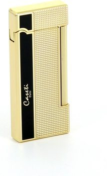 Caseti lighter President gold / black carrè