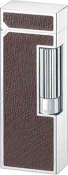 Dunhill Unique lighter palladium leather